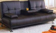 【Brand New】 Vincent PU Leather Sofa Bed with Cupholder Nunawading Whitehorse Area Preview