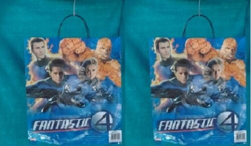 HALLOWEEN TRICK or TREAT PLASTIC BAGS 3 NIJA TURTLES & 2 FANTASTIC 4 MIXED LOT 5