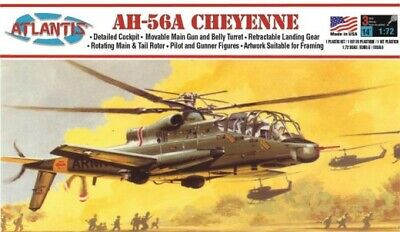 ATLANTIS MODELS 1/72 AH56A Cheyenne US Army Helicopter Plastic Model Kit ALM506