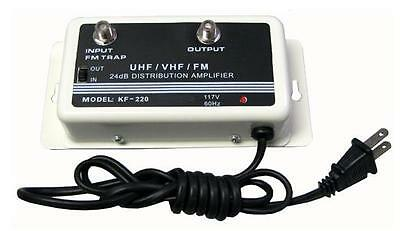 NEW 24DB CABLE TV ANTENNA BOOSTER  SIGNAL AMPLIFIER 24 DB HDTV AMP VHF UHF FM