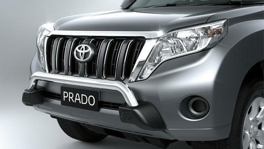 TOYOTA PRADO 150 SERIES NUDGE BAR ALLOY FROM AUG 13> NEW GENUINE ACCESSORY