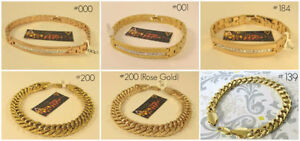 NEW 9K Yellow Gold Filled Mens and Womens Bracelets