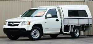 2009 Holden Colorado RC MY09 LX (4x2) White 5 Speed Manual Cab Chassis