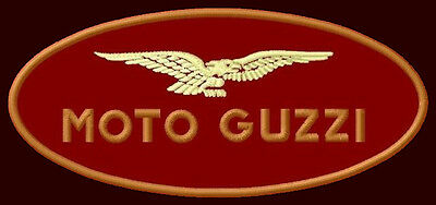 "MOTO GUZZI EMBROIDERED PATCH ~4-3/4"" x 2"" MOTORCYCLE CENTAURO CALIFORNIA LE MANS"