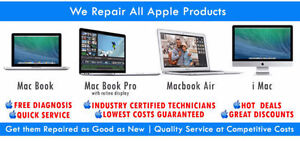 Mac Repairs, FREE DIAGNOSTICS - SAME DAY REPAIR, 90 Day Warranty