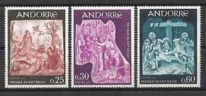Andorre-Francais-1967-Yvert-n-184-a-186-neuf-1er-choix