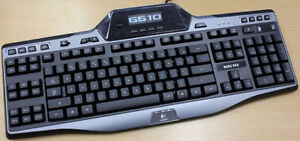 Logitech gaming keyboard with built-in LCD Screen