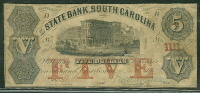 South Carolina   State Bank Sc   5 Bank Bldg  Red Five   1111 In Red At Right
