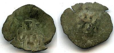 Scarce small bronze trachy, Crusader Kingdom, Constantinople, 1204-1261 AD -#2