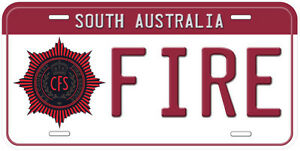 South Australia Fire Novelty Car License Plate