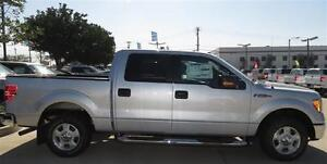 """Side Steps - 4"""" Round - Stainless 09-14 F-150 Super Crew WOW"""