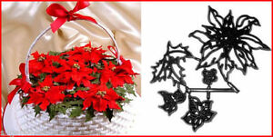 Poinsettia Ivy Holly Patchwork Cutters Christmas cake Decorations Sugarcraft