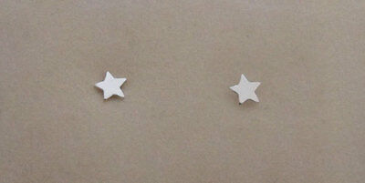 925 Sterling Silver Tiny Small Star Stud Earrings, 3 mm Diameter