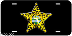 Black Florida Sheriff Novelty Car License Plate