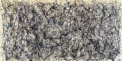 One Number 31 Jackson Pollock Abstract Contemporary Lines Print Poster 68x39