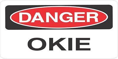 Lot Of 3 Danger Okie Oil Helmethard Hattoolboxlunchbox Sticker Union