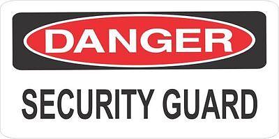Lot Of 3 Danger Security Guard Helmethard Hattoolboxlunchbox Sticker Union