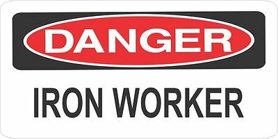 3 Danger Iron Worker Helmethard Hattoolboxlunch Box Sticker H618