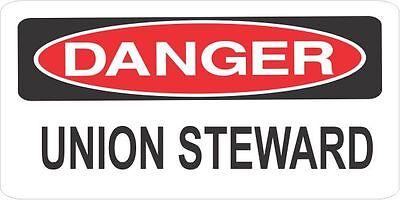 3 Danger Union Steward Helmethard Hattoolboxlunchbox Sticker Union H611