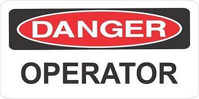 3 Danger Operator Helmethard Hattoolboxlunch Box Sticker Union Hs5079