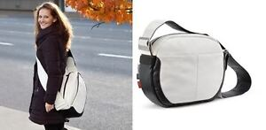 The (BUGABOO )RED Bag Special Collection bb01 in white leather