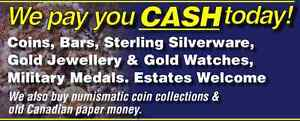 Paying top dollar for Gold, Silver, Coins, banknotes, & More