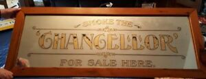 1894 LEMIEUX & GIRARD MONTREAL REVERSE PAINTED GLASS CIGAR SIGN