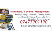 Ac funfairs vintage funfair bouncy castle hire all events catered for and permanent pitches