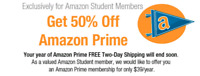 Get AMAZON PRIME for 50% OFF!!!