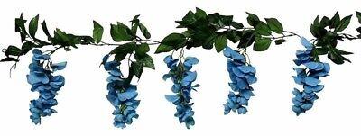 Wisteria Garland TURQUOISE BLUE AQUA TEAL Gazebo Arch Wedding Silk Flowers