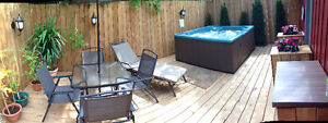 $1500 all utilities/SATELLITE/laundry included, Sept 1st Hot Tub