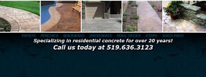 CONCRETE WORK  FREE ESTIMATES (519)636-3123