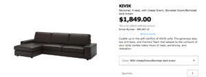IKEA- KIVIK Couch 1 year old