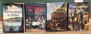 Histoire populaire du Québec / Jacques Lacoursiere (4 tomes $25)