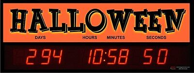 Digital LED Countdown Event Timer - Countdown to Halloween -