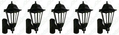 5 x ASD CL/BK100 Coach Lantern Light Fittings - Black