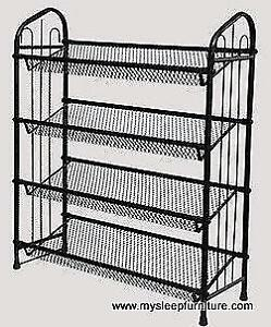 SHOE RACK- BLACK OR SILVER COLORS- BRAND NEW