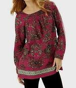 Womens Plus Size Tunic 4X