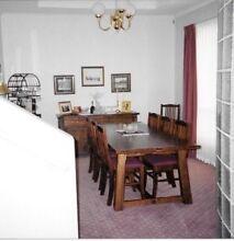 Oak Refectory Table & 8 Chairs Aberfoyle Park Morphett Vale Area Preview