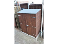 NEW..NEW..Wickes Shiplap Timber Garden Store Honey Brown - 4 x 2 ft