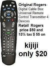 OGM Genuine Rogers Remote AT8400 Digital / URC1056 / C144607 Cable Box Universal 4 Devices