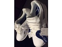 New, unworn Reebok trainers, with receipt, size too big and now too late to return them to the shop