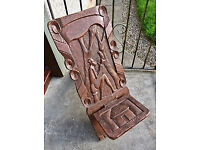 Unusual wooden African chair from Zimbabwe