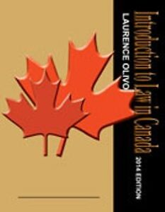 UPEI Pol. Sci. 211 Introduction To Law In Canada Custom