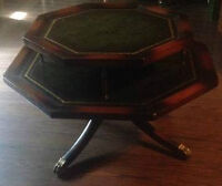 ANTIQUE TWO TIER ROTATING TABLE
