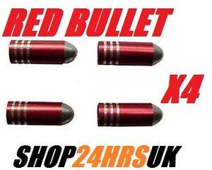 Red-Bullet-Dust-Caps-Car-or-Bike-Dust-Valve-Caps-Alloy-custom-wheel-caps