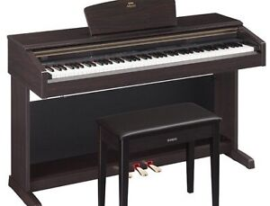 Yamaha Digital Piano with Bench in Rosewood