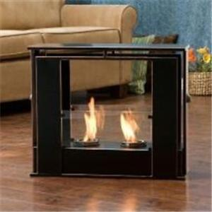 Black Portable Indoor Outdoor Patio Deck Floor Gel Fuel Fireplace Fire Place Ebay