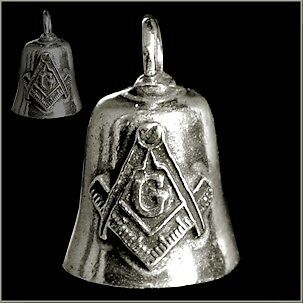 GREMLIN BIKER BELL MASONIC for HARLEY DAVIDSON Motorcycle guardian spirit