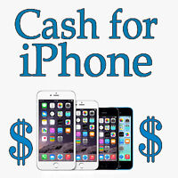 Cash for working and damaged iPhone 5, 5C, 5S & 6